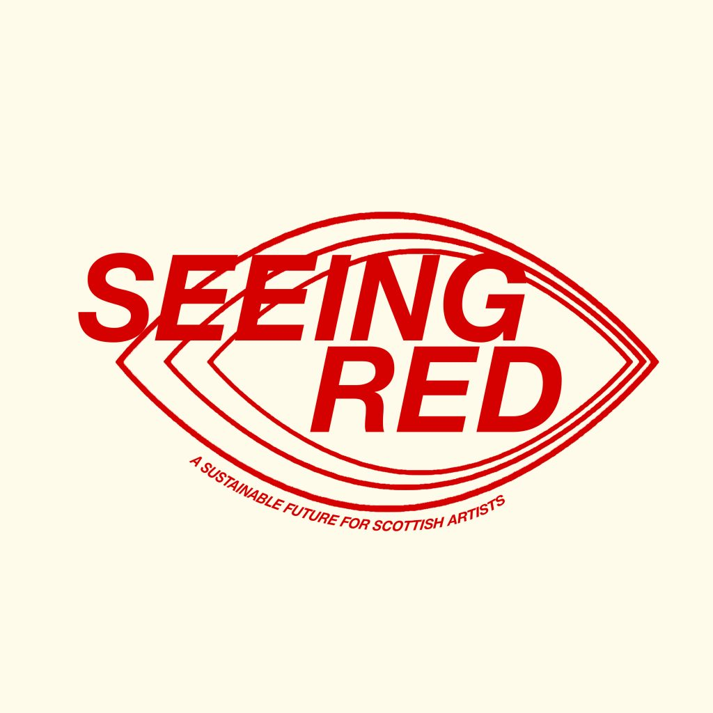 Seeing Red Logo - Scottish Artists Union campaign for fair pay