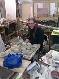 Sam with his pots